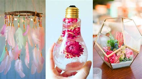 Easy Crafts To Decorate Your Home Diy Ideas To Decorate Room Craft Ideas Diy Craft Projects