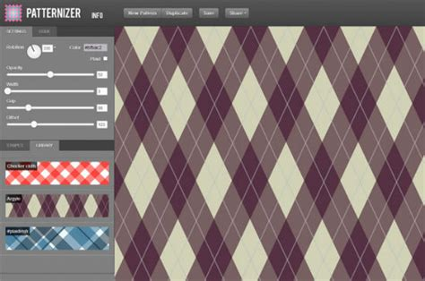 pattern generator js down with boredom 5 pattern generators for background