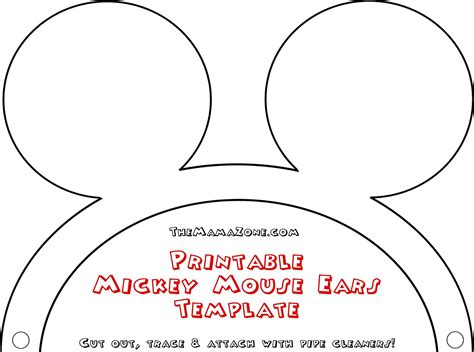 mouse ears template free mickey mouse ears template the mamazone