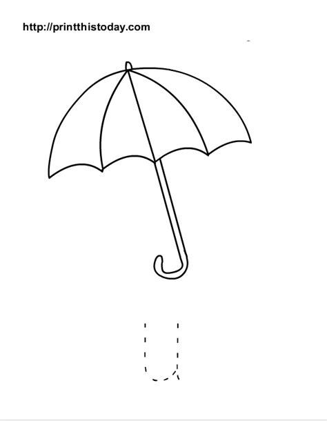 preschool umbrella template free printable alphabet worksheets letter s z lower