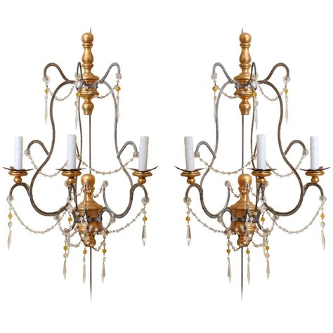 Tuscan Style Wall Sconces a pair of tuscan style sconces at 1stdibs