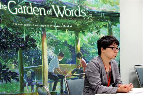 garden  thoughts  interview  makoto shinkai