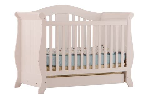 Crib White Convertible Vittoria White 3 In 1 Fixed Side Convertible Crib At Gowfb Ca Baby Furniture Storkcraft