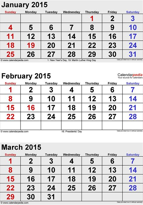 Calendar 2015 February March April March 2015 Calendars For Word Excel Pdf