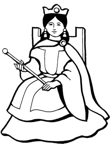 Galerry cartoon queen coloring pages