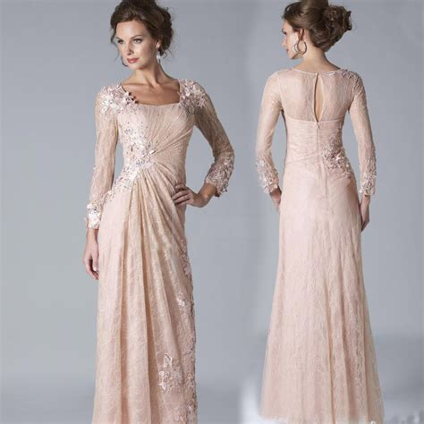 by color cheap prom dresses 2016 mother of bride gown 2016 sexy chiffon lace evening dresses long sleeves prom