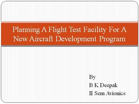 flight test cards template planning a flight test facility for a new authorstream