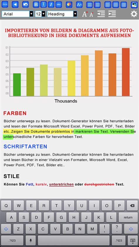 dokument writer textverarbeitung und reader fuer