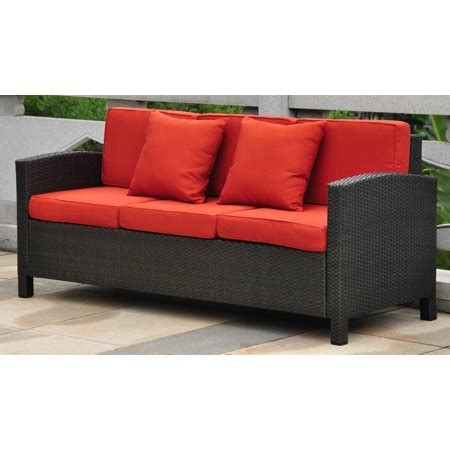 Resin Wicker Sofa by Wicker Resin Aluminum Outdoor Sofa With Cushions Walmart