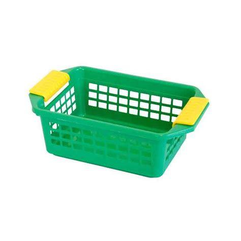 Storage Basket Green flip n stack small green plastic baskets set of 24