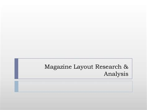 magazine layout research magazine cover layout research analysis