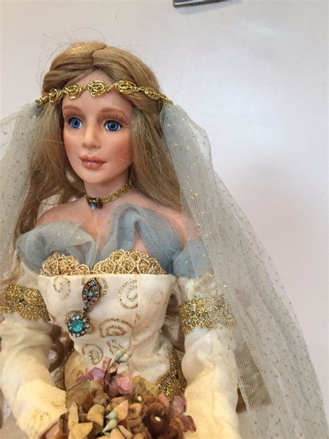m mcclure porcelain doll collectable guinevere porcelain doll by m