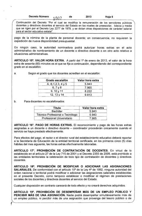 salarios decreto 2277 magisterio decreto 1002 del 21 de mayo de 2013 salarios 2277