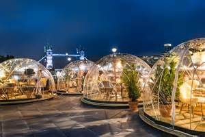 Top Bars In Canary Wharf 8 Igloos Have Appeared On The Banks Of The Thames Broke