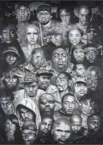 Not a whole lot of white faces on this poster of hip hop legends