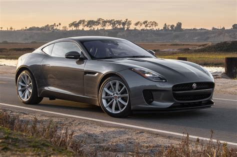 jaguar cars f type 2018 jaguar f type coupe turbo four test motor trend