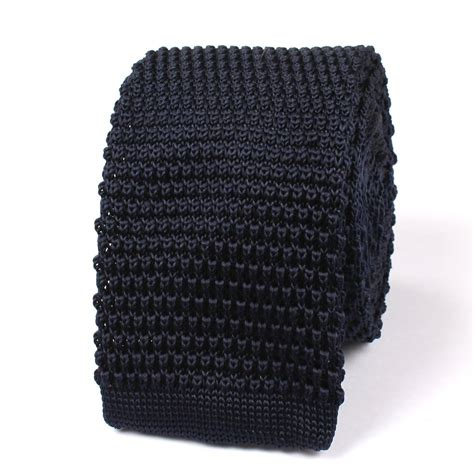 blue knit tie navy blue knitted tie knit ties knits necktie neckties