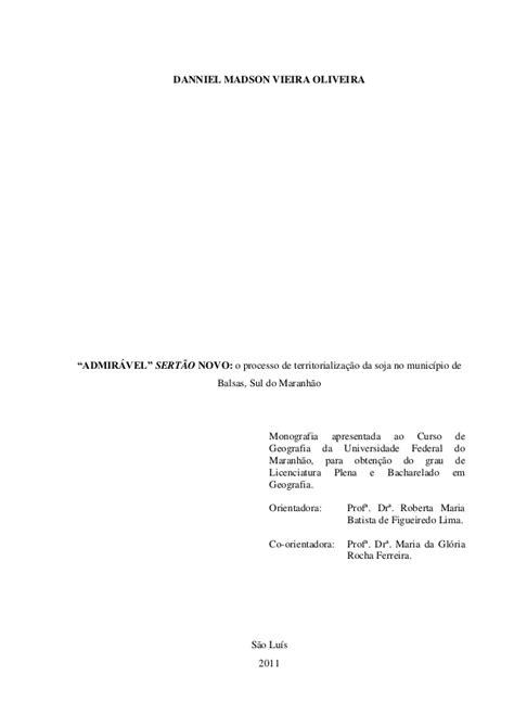 """""""ADMIRÁVEL"""" SERTÃO NOVO: o processo de territorialização"""