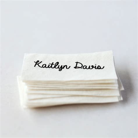 Handmade Clothing Tags - sew on name tags clothing labels white organic cotton