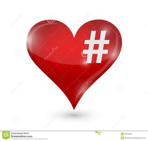 art design hashtags heart and hashtag illustration design stock photography
