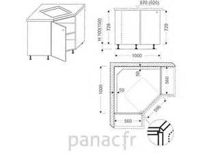 meuble d angle sous plaque de cuisson oc 100 nsl
