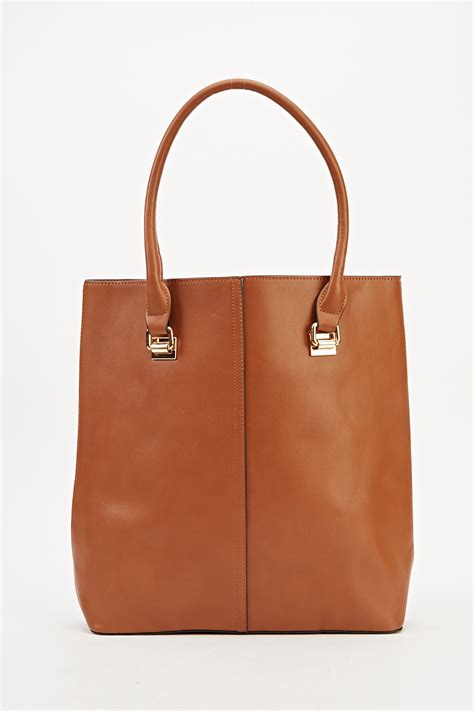 Faux Leather Tote With faux leather tote bag just 163 5