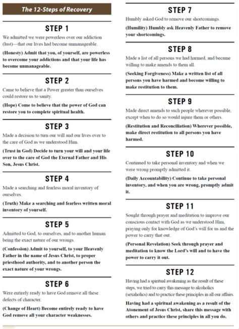 Aa 12 Steps Worksheets by 12 Steps Of Recovery Crafts To Try