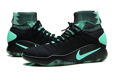comfortable basketball shoes comfortable nike hyperdunk 2016 flyknit black green glow