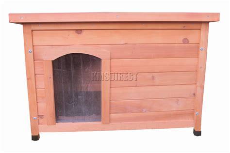 small wood dog house foxhunter small dog kennel wooden pet house hutch puppy wood cage shelter new ebay