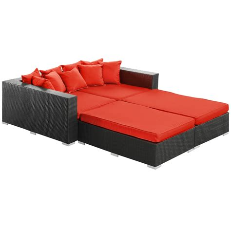 bed loungers houston outdoor lounge bed modern furniture brickell collection