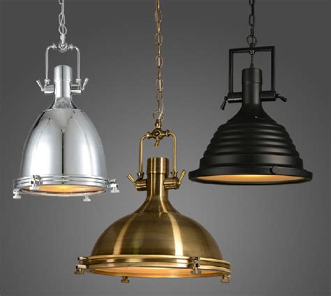 vintage pendant lights for kitchens vintage l american style e27 copper chrome pendant