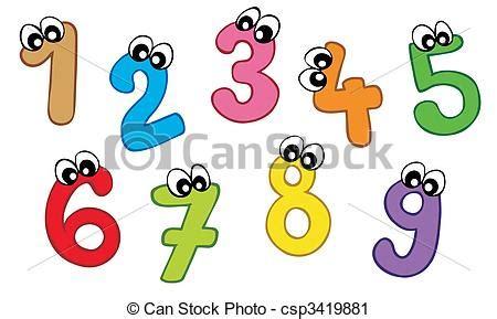 numeri clipart vector clip de caricatura n 250 meros en blanco plano