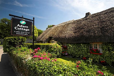 adare thatch roof cottages ireland photograph by