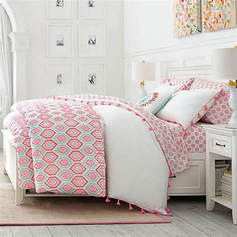 pbteen bedding diamond daisy duvet cover sham pbteen