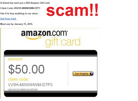 Gift Card Scam - a friend has sent you a 50 amazon gift card cybersecurity