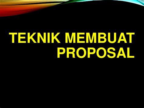 membuat proposal website teknik membuat proposal