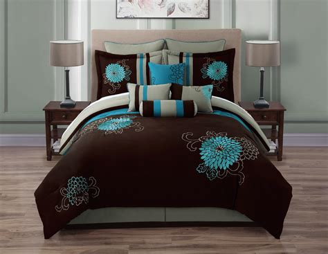 teal bedding queen chocolate teal bedding sets queen gridthefestival home