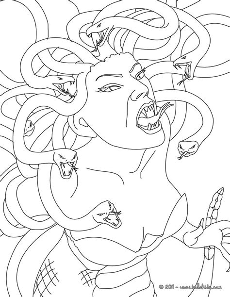 medusa coloring pages mythology drawings medusa the gorgon with snake