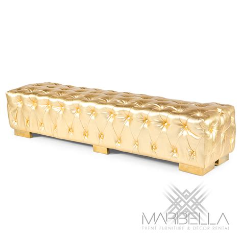 gold bench bench regency gold marbella event furniture and decor rental