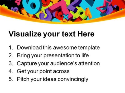 powerpoint templates numbers free abstract numbers education powerpoint templates and