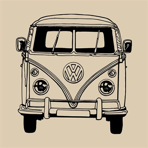volkswagen bus art vw cer van bus vinyl wall art sticker transfer home