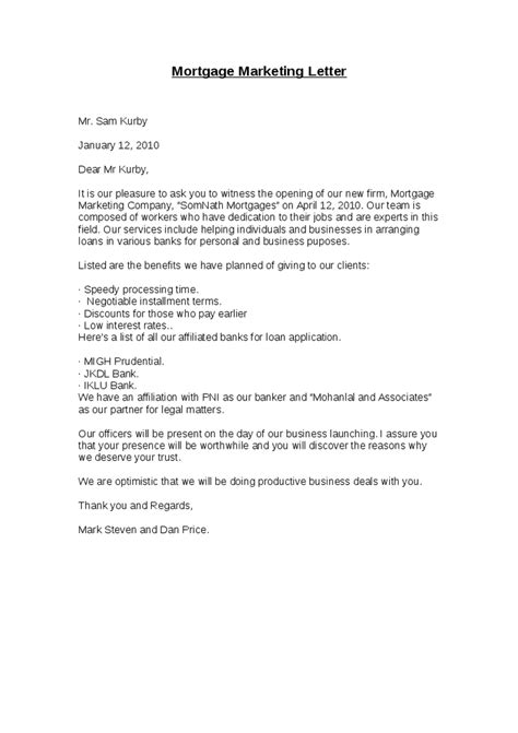 Loan Marketing Letter Mortgage Marketing Letter Hashdoc