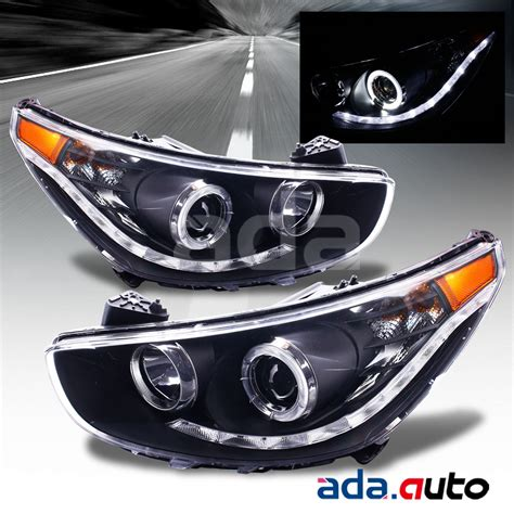 2014 hyundai accent lights headlights tail lights leds for 2012 2014 hyundai accent sedan hatchback led halo