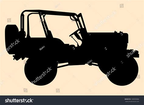 jeep silhouette jeep silhouette stock vector illustration 108909086