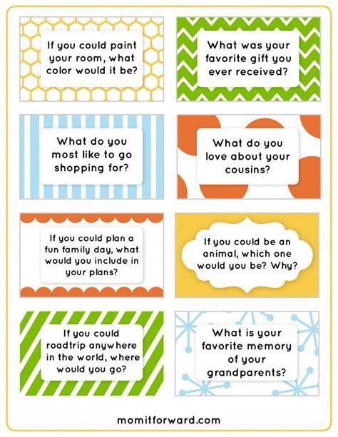 conversation starter cards templates best 25 conversation starters ideas on date