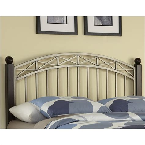 Home Styles Bordeaux Espresso Antique Pewter Headboard