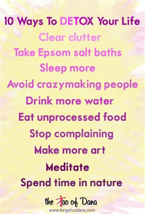 The Tao Of Detox by 10 Ways To Detox Your Words Of Wisdom The Tao Of