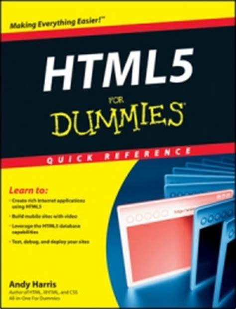 reference book html5 windows 7 for dummies reference free