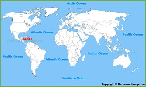Belize World Map belize location on the world map