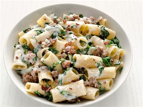 pinterest swiss food recipes rigatoni with swiss chard and sausage recipe food network kitchen food network